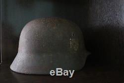 Original German WW2 SS NORD helmet M40 casque stahlhelm casco elmo Kask