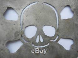 Original German WW2 Skull & Bones Shield from OstFront, Trench Art 1942