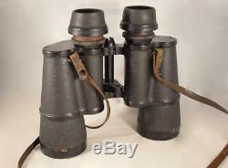 Original German WW2 Zeiss 7x50 Gasmask Kriegsmarine Naval Binoculars- excellent