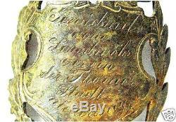 Original German WW2 engraved honour badge or Flag Nail, pennant award medal