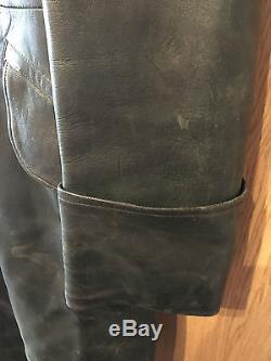 Original German WW2 leather overcoat, nice condition
