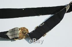 Original German WWII Kriegsmarine Officers Dress Brocade Belt and Buckle