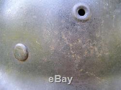 Original German WWII M40 Heer (Army) Helmet With Original Liner & Chinstrap EF62