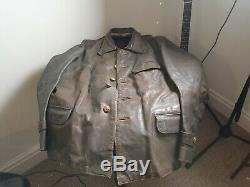 Original German WWII U-Boat Submarine Crew Leather Jacket Hugo Boss Nazi Uniform