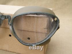Original German WWII Un-Issued Flight/Motorcycle Goggles With Box Dated 43