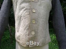 Original German WWII Wehrmacht Issue Sheep Skin Vest With Sweater Sleeves
