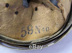 Original German WWII Zinc Helmet Liner Size 64 Shell 56 Liner Faint Markings