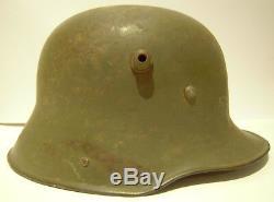 Original German Ww1 Helmet (used By The Finnish Army In Ww2)