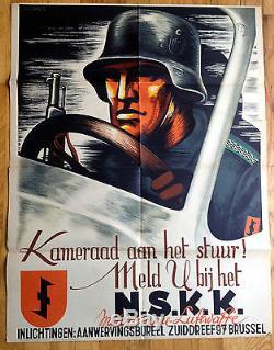 Original Kameraad aan het stuur! N. S. K. K. Motorgruppe WWII German Progaganda