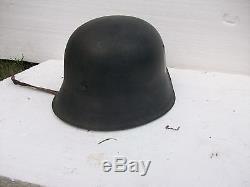 Original M42 German helmet with single elite forces decal