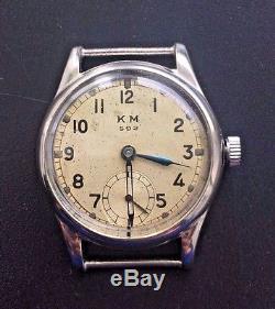 Original Military German Watch Kriegsmarine K. M. 592 Alpina Wehrmacht Workng Ww2