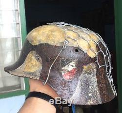 Original Nice Rare Quality WW2 German Eastfield Troops M-35 Helmet w. Certificate
