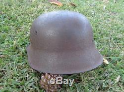 Original Nice Ww2 German M42 Normandy Camo Helmet