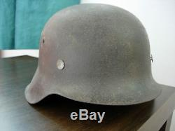 Original Rare German Ww2 Kriegsmarine Steel Combat Helmet M42 Ef64 Stahlhelm