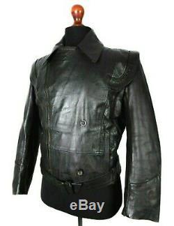 Original Vintage 1940's WW2 German Leather Luftwaffe Jacket 38R LD281