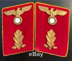 Original WW II German NSDAP Political Leader Collar Tabs - Abschnittsleiter