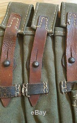 Original WW2 Afrika Korps German Field Gear Marked clg on Leather Matching Pair