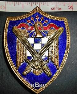 Original WW2 Fascist Spain Blue Div Uniform Badge Insignia Italian German Allies