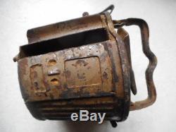 Original WW2 GERMAN ARMY mg DRUM dak ordinance TAN CAMO normandy found