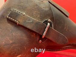 Original WW2 German Army Hard Shell P38 Holster Well Wa Marked