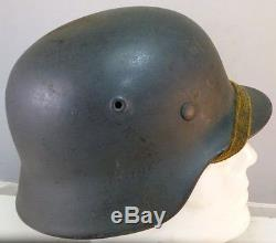 Original WW2 German Army M40 Helmet ET62