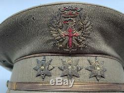 Original WW2 German Axis Spanish 1943 Spanish Colonel Visor Cap