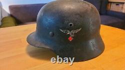 Original WW2 German DD Luftwaffe M35 helmet ET64 Lot 3760