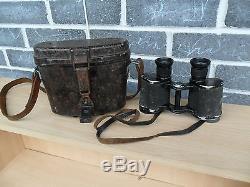 Original WW2 German Dienstglas 6x30 Binoculars fvx KF + Bakelite Case & Straps
