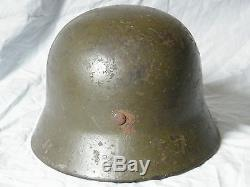 Original WW2 German Helmet Green Camo M40 SD Kriegsmarine Stahlhelm