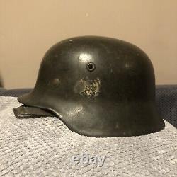 Original WW2 German Helmet M40 Wehrmacht, Stahlhelm NS66 WK2