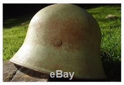 Original WW2 German Helmet With Liner & Chinstrap