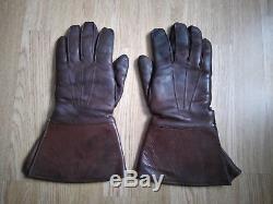 Original WW2 German LUFTWAFFE WEHRMACHT leather pilot winter GLOVES WW 2 II PRYM