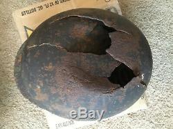 Original WW2 German Luftwaffe M35 Helmet Size 64 Battle Site Of Orel, Russia