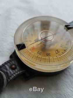 Original WW2 German Luftwaffe Wrist Compass AK39 FL 23235-1 In Working Order