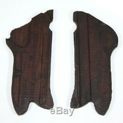 Original WW2 German Luger Parabellum P08 wooden grips Eagle Proofed