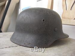 Original WW2 German M40 LW steel helmet
