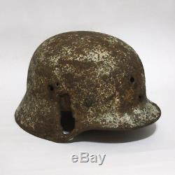Original WW2 German M40 helmet SE Snow camouflage
