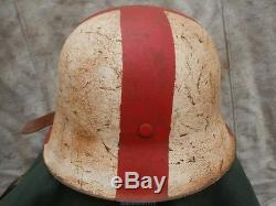 Original WW2 German M42 Helmets 66/59 size DRK