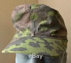 Original WW2 German Oakleaf Camo Cap Oak Leaf Camouflage Hat WSS