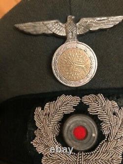 Original WW2 German Officers Visor Hat