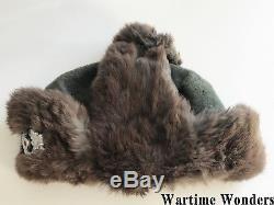 Original WW2 German Russian Front Winter Fur Cap