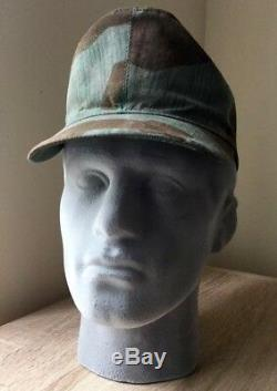 Original WW2 German Splinter Camo Cap Camouflage Hat Army WSS