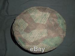 Original WW2 German Splinter Helmet Cover, Fallshirmjager Paratrooper Uniform Cap