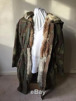 Original WW2 German WSS / Heer Fur Lined Camo Parka