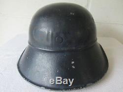 Original WW2 German Wehrmachtgefolge Volkssturm Nazi Partisan M38 LSW Stahlhelm