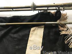 Original WW2 German Youth Trumpet with Banner from Sudetenland Region