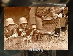 Original WW2 German army Relic MG 08 (WWI type) Steel Wasserkasten 1941 WH