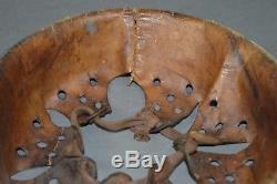 Original WW2 German helmet zinc/steel liner size 66/58 1940 dated Luftwaffe Heer