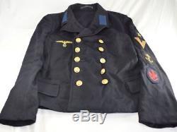 Original WW2 Militaria German Navy Kriegsmarine Pea Coat with Insignia
