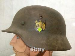 Original WW2 casque KM allemand M35 german helmet T68/60 deutsch stahlhelm elite